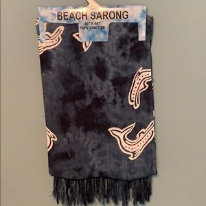 Other - Beach Sarong Tribal Dolphin Print with Fringe